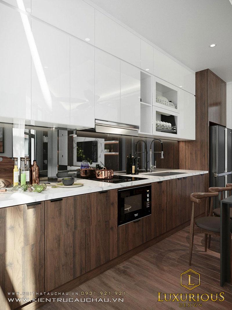 Phòng Bếp Nhà Phố Hiện Đại Đẹp