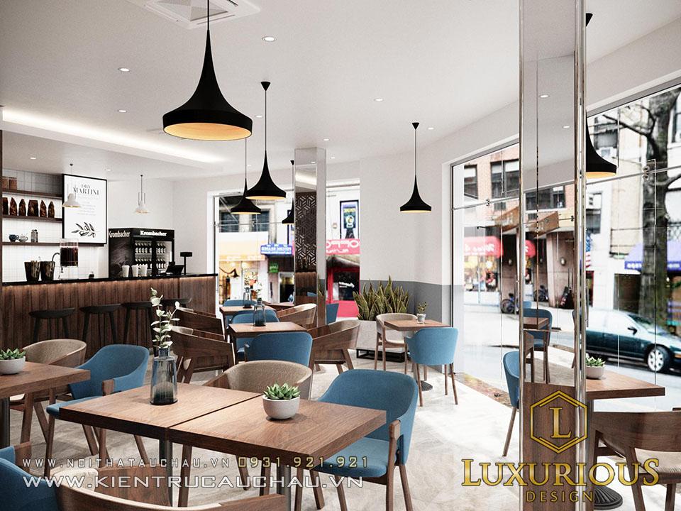 Thiết kế nhà phố kết hợp kinh doanh quán Cafe