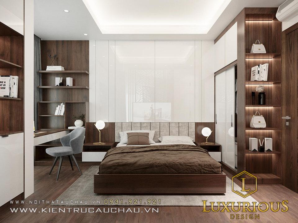 Thiết kế nội thất nhà phố phòng ngủ master
