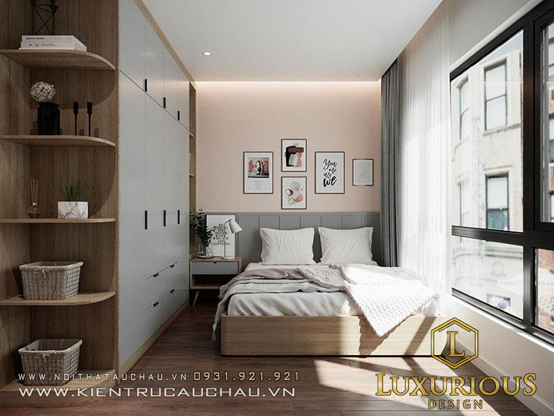 Thiết Kế Nội Thất Phòng Ngủ Nhà Phố Đẹp Cho Bé Gái