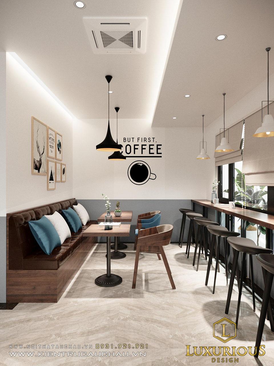 Thiết kế nội thất quận Cafe tầng 2