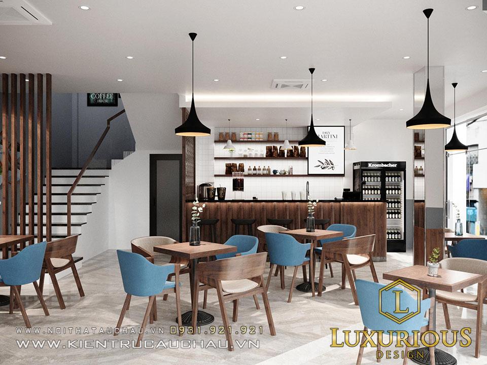 Thiết kế quán Cafe kết hợp nhà ở