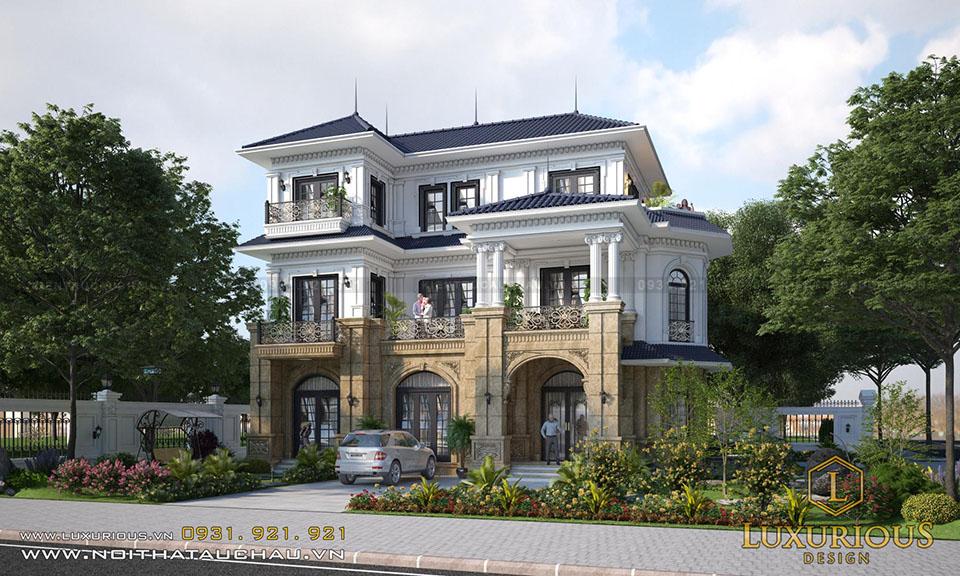 Kiến trúc biệt thự 2 mặt tiền
