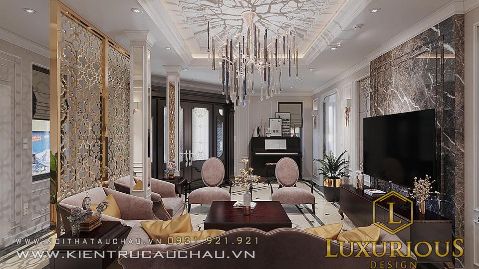 Mẫu thiết kế biệt thự phòng khách Hoàng Quốc Việt