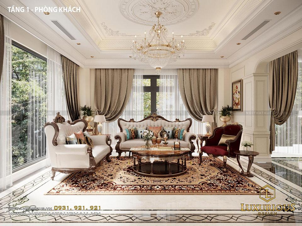 Mẫu thiết kế nội thất phòng khách vinhomes imperia Hải phòng