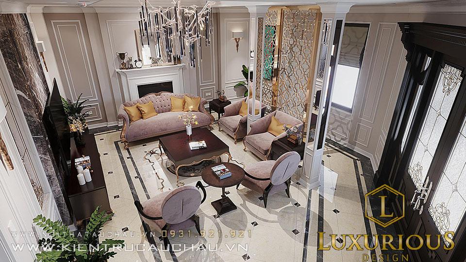 Mẫu thiết kế nội thất phòng khách biệt thự siêu đẹp