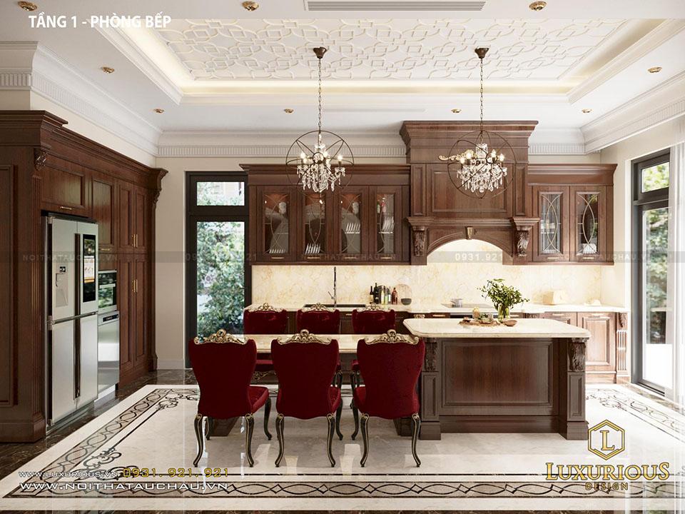 Phòng bếp biệt thự vinhomes