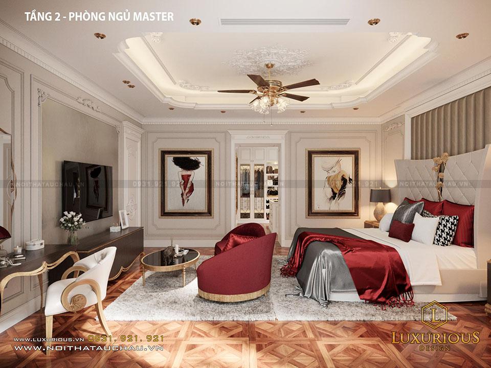 Phòng Ngủ Master Tầng 2 Biệt Thự Vinhomes Imperia