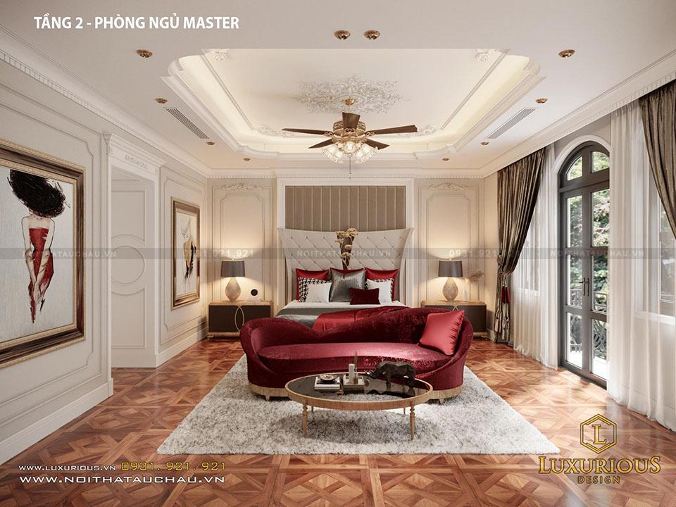 Phòng Ngủ Master Tầng 2 Biệt Thự Hải Phòng
