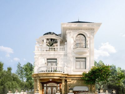 Mẫu Thiết Kế Kiến Trúc Biệt Thự Phố King Palace Tân Cổ Điển 18m