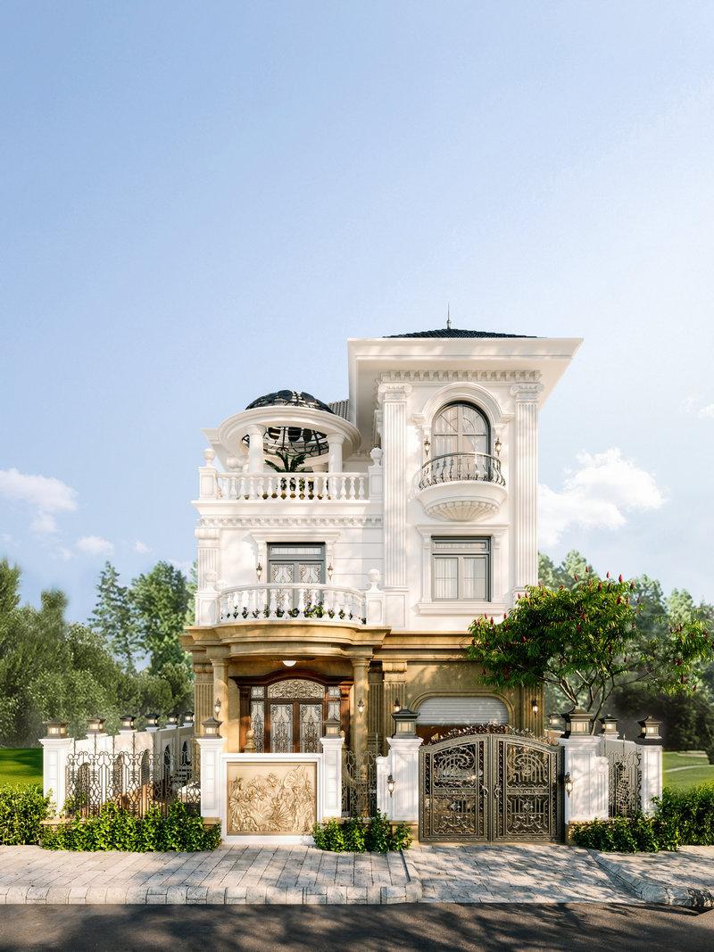 Dự Án Thiết Kế Kiến Trúc Biệt Thự Phố King Palace Tân Cổ Điển