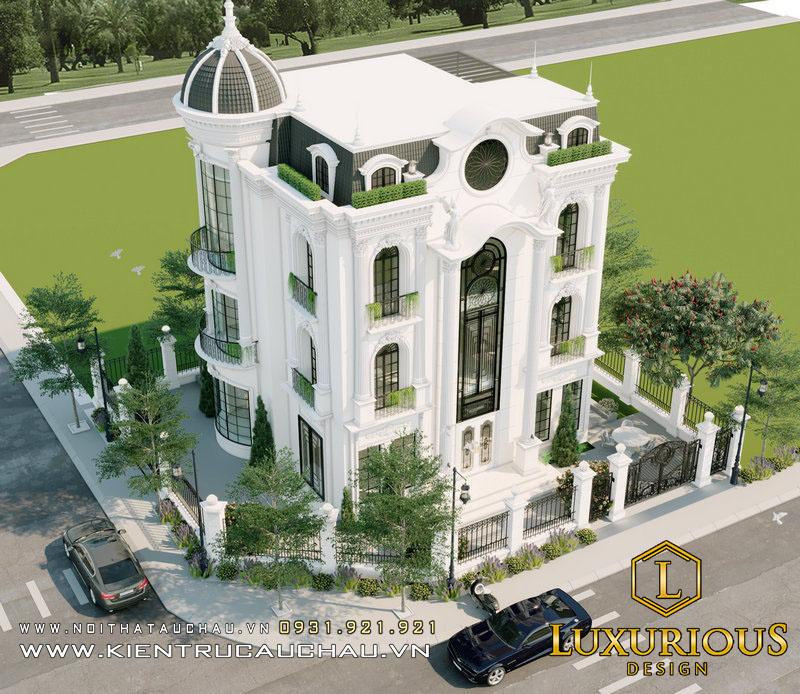 Khung Cảnh Trên Cao Của Thiết kế kiến trúc biệt thự The Premier
