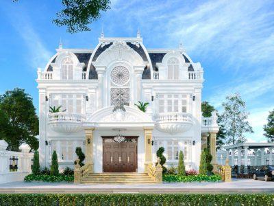 Thiết Kế Kiến Trúc Biệt Thự Tân Cổ Điển Green Bay 25m Đẹp, Sang Trọng