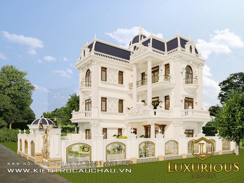 Thiết Kế Biệt Thự Louis Hoàng Mai Đẹp Mang Phong Cách Tân Cổ Điển
