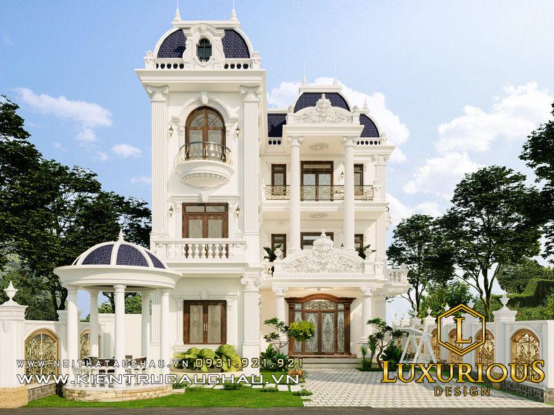 Mẫu Thiết Kế Kiến Trúc Biệt Thự Tân Cổ Điển Louis Hoàng Mai