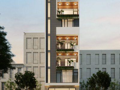Thiết kế Kiến trúc Nhà Phố 16m tại Vinhomes Ocean Park