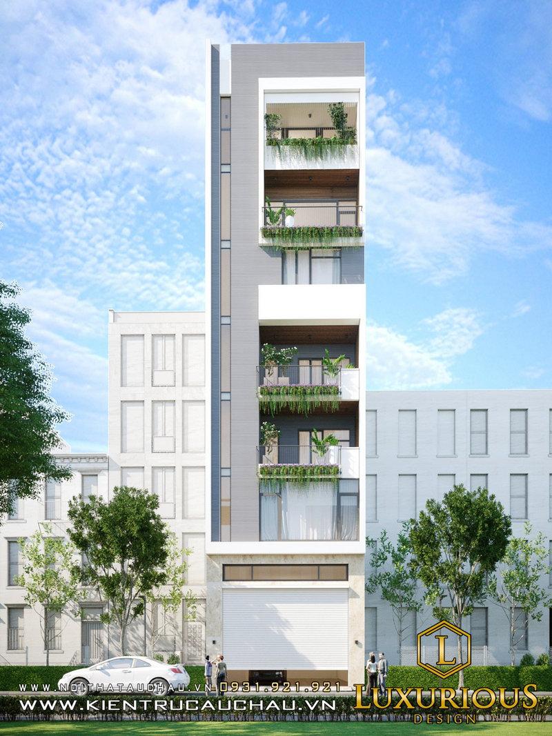 Thiết kế nhà phố 16m tại Vinhomes Ocean Park