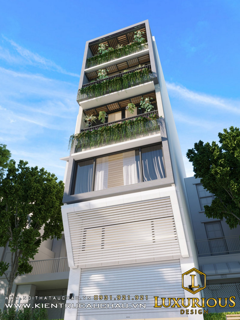 thiết kế nhà phố 14m