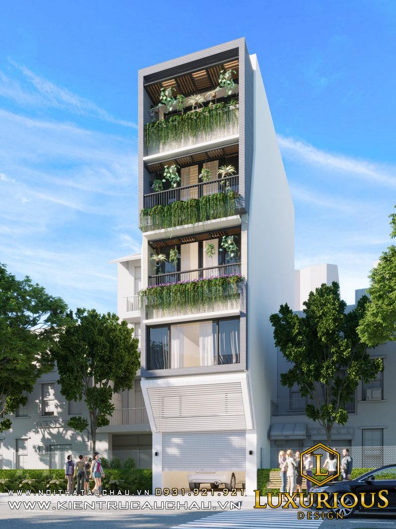 Thiết kế nhà phố 14m Ecohome3