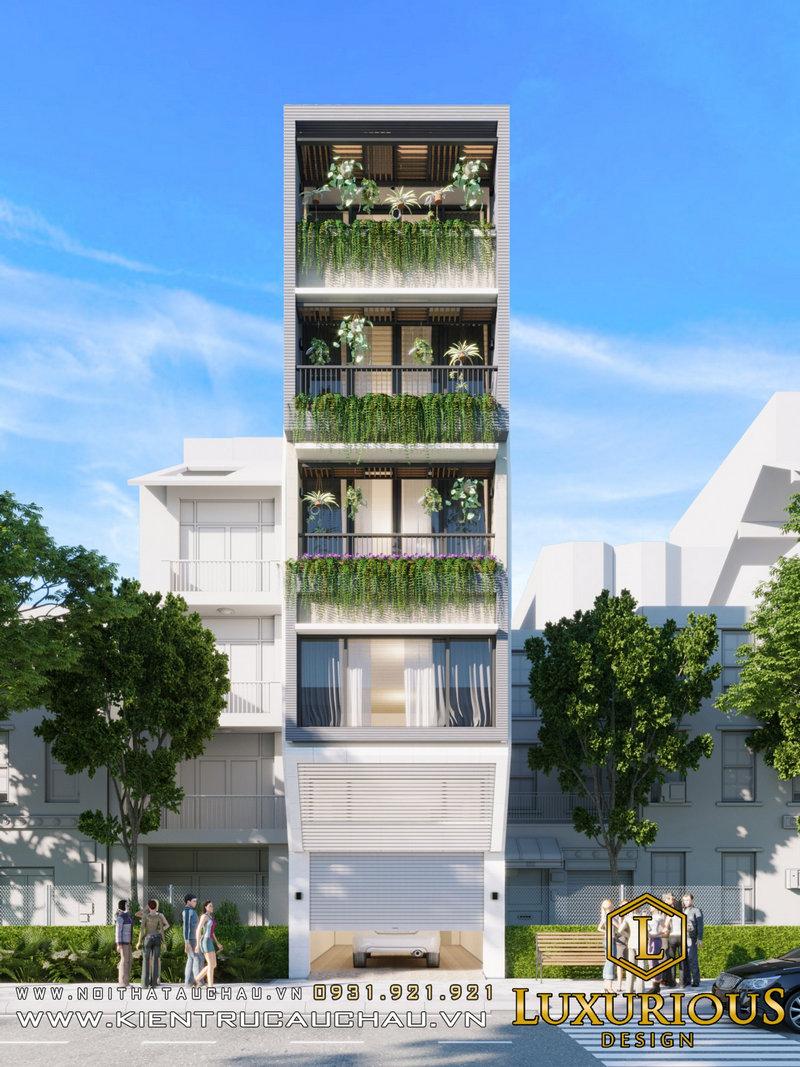 Thiết kế kiến trúc nhà phố Ecohome 33 14m