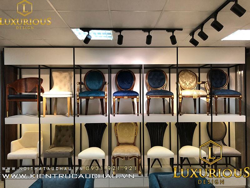 Hình Ảnh Trưng Bày Ghế Mẫu Của Xưởng Luxurious Decor