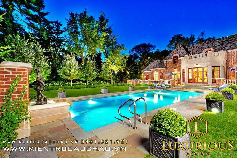 Mẫu thiết kế hồ bơi đẹp
