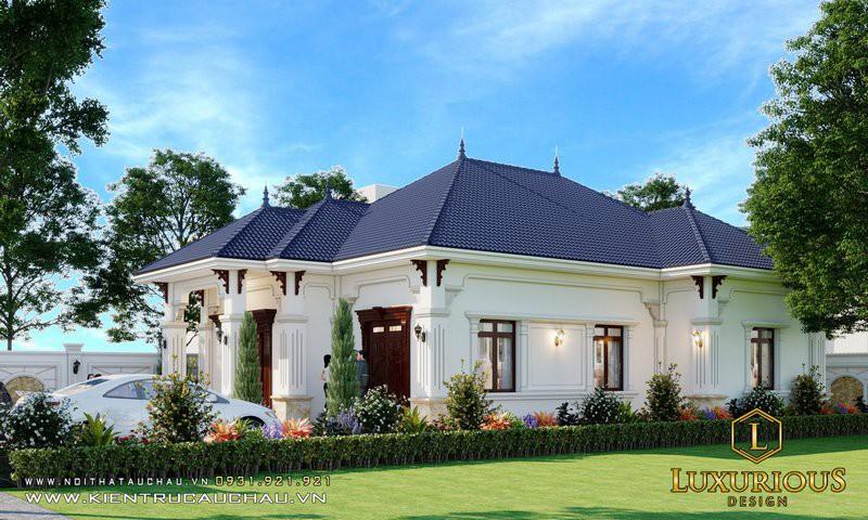 Thiết Kế Nhà Phố Mái Thái 1 Tầng đẹp Haven Park Residences Ecopark
