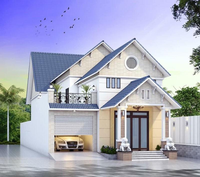 Mẫu Nhà Mái Thái 3 Phòng Ngủ Có Gác Lửng Đẹp