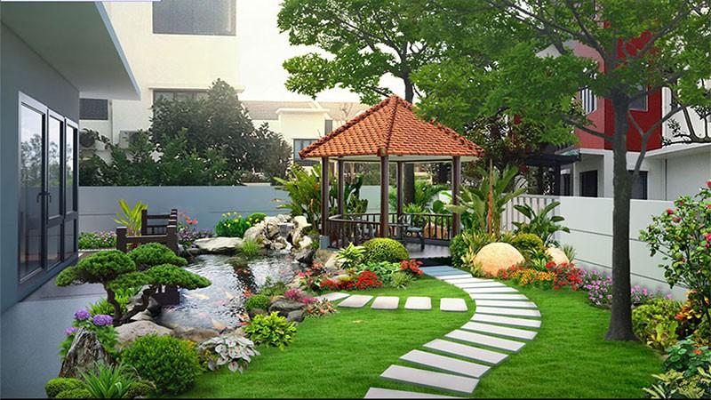 Thiết Kế Sân Vườn Đẹp Tốt Cho Sức Khoẻ