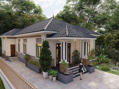 Mẫu Nhà Mái Thái 1 Tầng 2 Phòng Ngủ Đẹp Tuyệt Vời