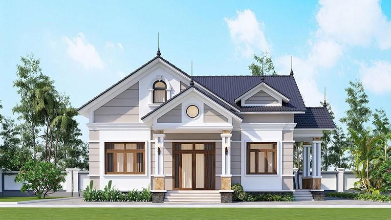 Nhà 1 Tàng Kết Hợp Mái Thái