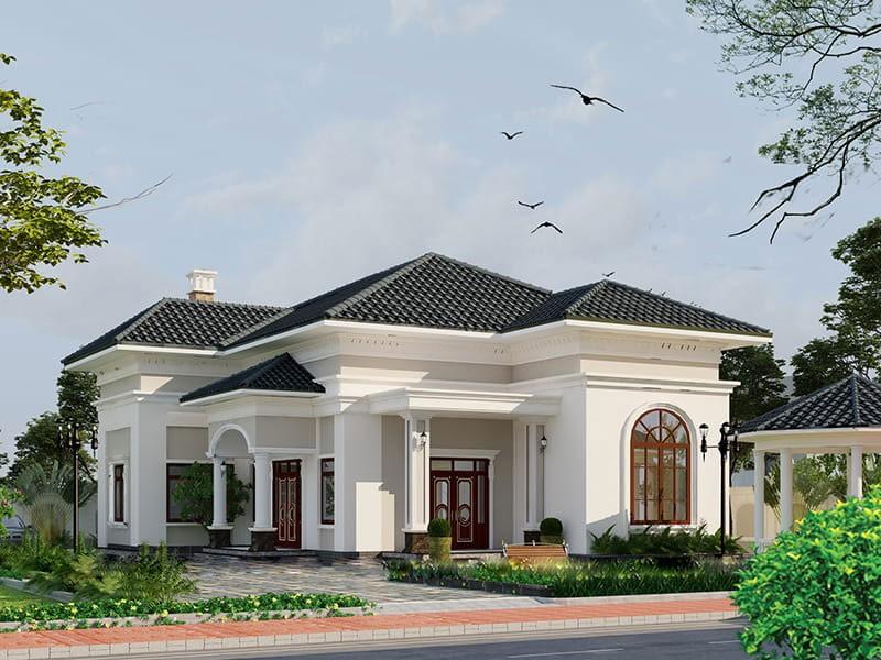 Biệt Thự Nhà Vườn Mái Thái