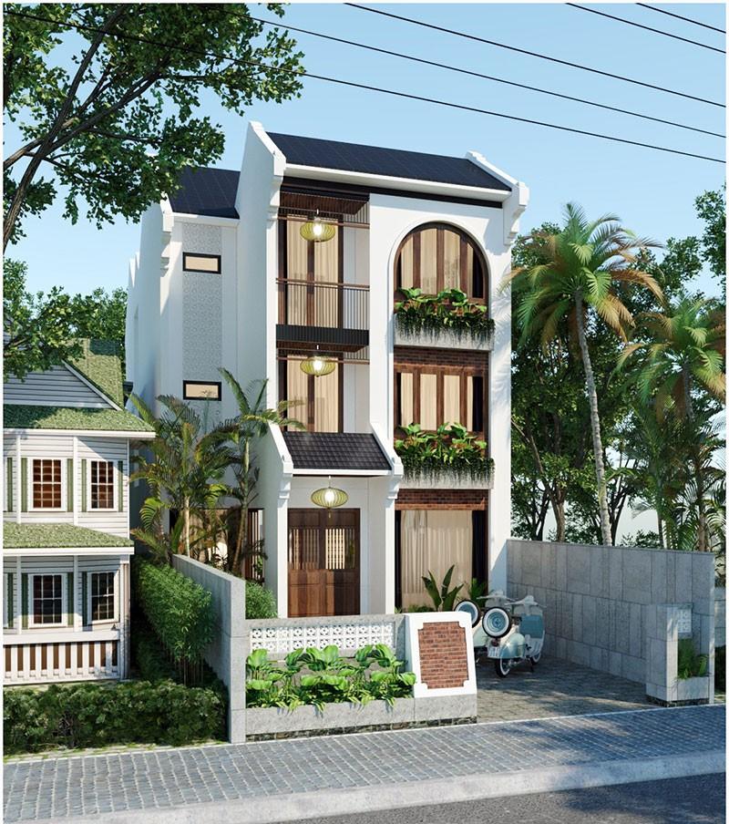 Nhà Mái Thái Đẹp 5m Mặt Tiền