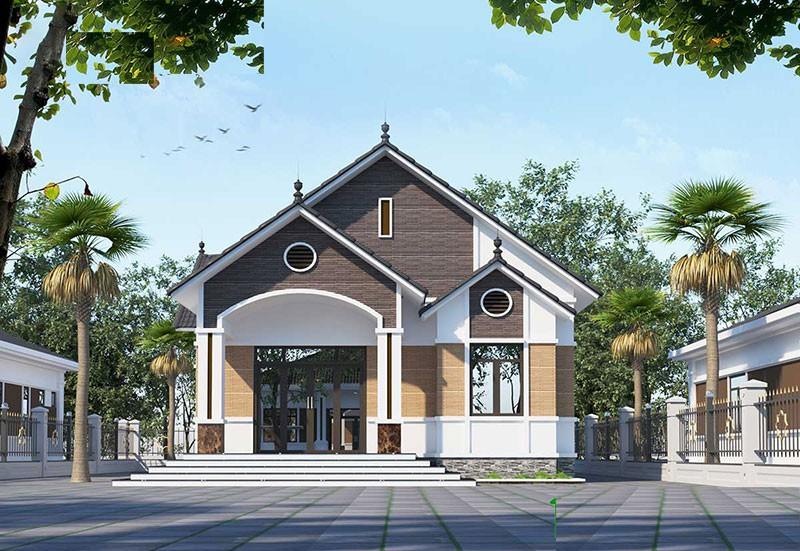 Nhà Mái Thái Có Gác Lửng Hiện Đại