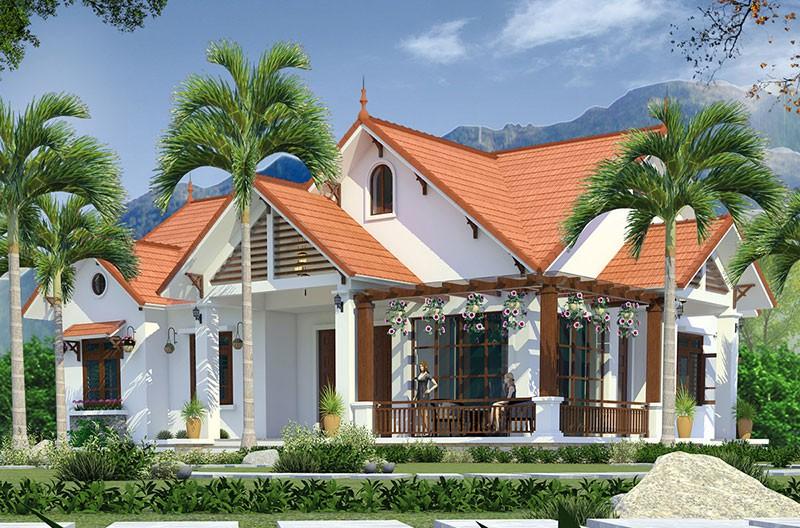 Nhà Mái Thái Hiện Đại Kết Hợp Với Mái Thái