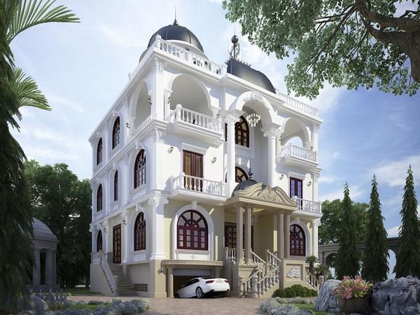Thiết kế kiến trúc Biệt thự 4 tầng trở lên