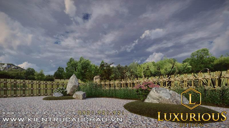 Thiết Kế Sân Vườn 100m2 Lavender Garden