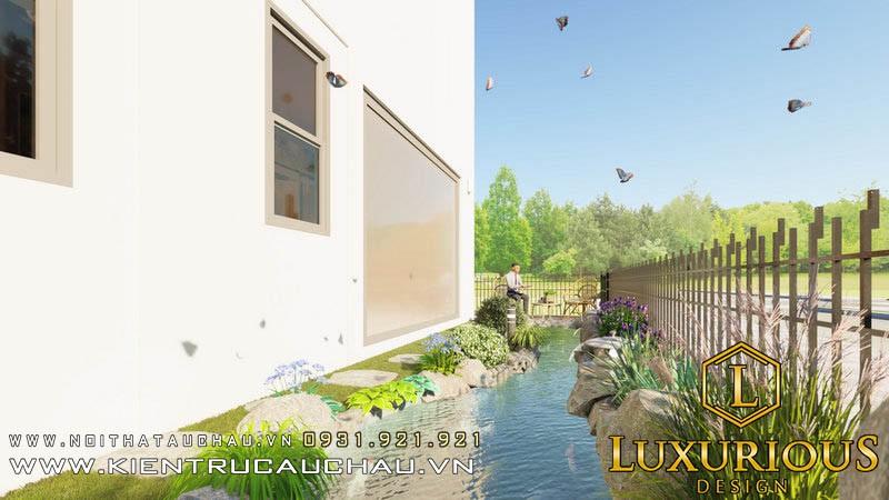 Thiết kế cảnh quan sân vườn cho dự án biệt thự vườn Pandora