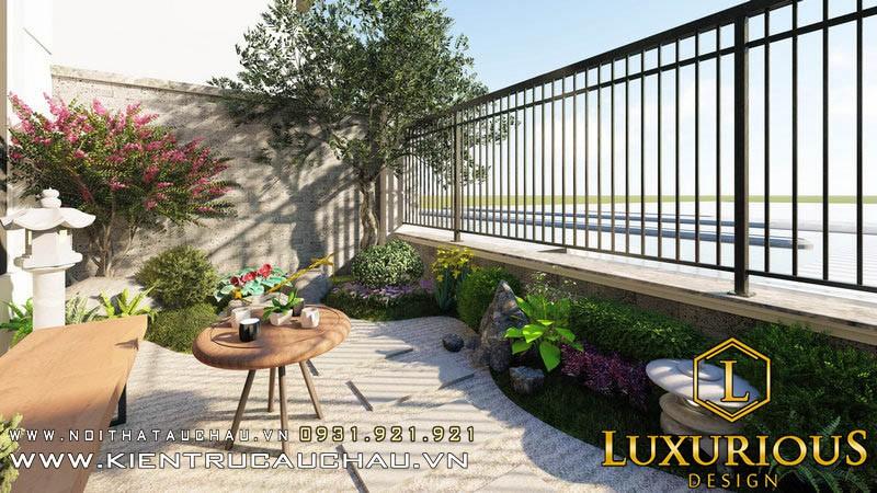 Thiết kế sân vườn biệt thự Pandora