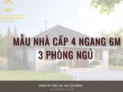 Bật Mí 23+ Mẫu Nhà Cấp 4 Ngang 6m 3 Phòng Ngủ Đẹp, Hiện Đại