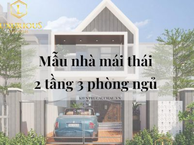 60+ Mẫu Nhà Mái Thái 2 Tầng 3 Phòng Ngủ Đẹp, Hiện Đại 2021